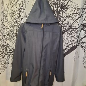 Charcoal Grey Spring Fall Trench Coat